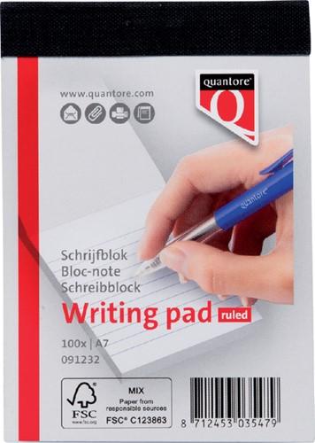 Schrijfblok Quantore A7 gelinieerd