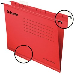 Hangmap Esselte Classic A4 V-bodem rood