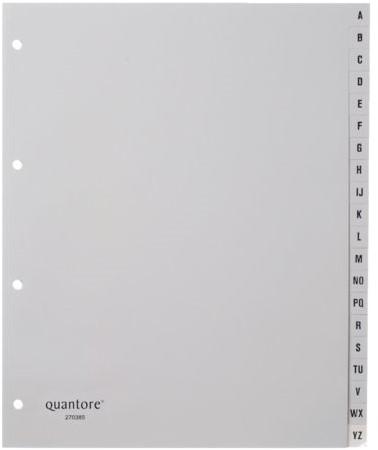 Tabbladen Quantore A4 4-gaats 20-delig met alfabet breed PP