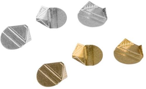 Hoekclip Quantore 100stuks zilver