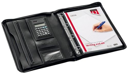 Schrijfmap Quantore A4 met rits en calculator