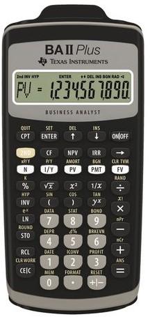Rekenmachine TI Ba II plus