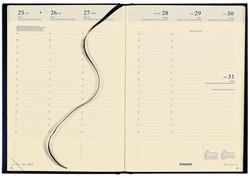 Agenda 2019 Brepols Bretime 16 maanden 7dag/2pagina's zwart