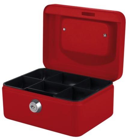 Geldkist Pavo 150x115x80mm rood
