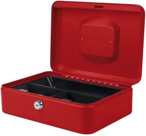 Geldkist Pavo 250x180x90mm rood