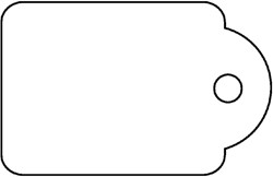 Label Apli karton nr392 36x53Mm wit 500stuks