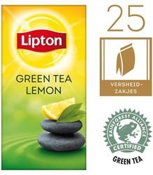 Thee Lipton Green tea lemon met envelop 25stuks