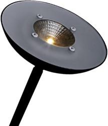 Vloerlamp Hansa led First zwart staal