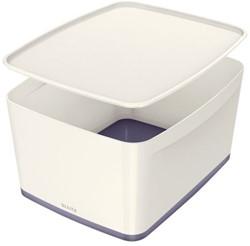 Opbergbox Leitz MyBox groot grijs/wit