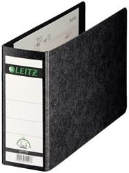 Ordner Leitz A5 77mm dwars karton zwart