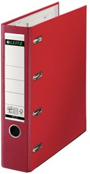 Ordner Bank Leitz 1012 A4 80mm PP 2 mechanieken rood