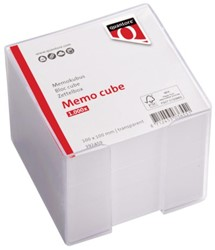 Memokubus Quantore 10x10x10cm transpant met 1000vel