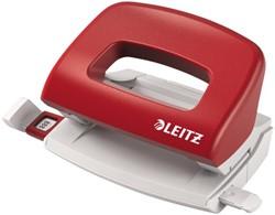 Perforator Leitz 5058 2-gaats 10vel rood
