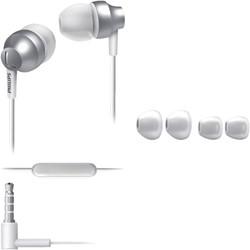 Oortelefoon Philips in ear SE3855S zilver/wit