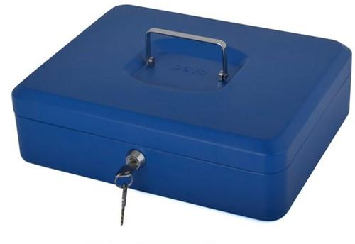 Geldkist Pavo met muntsorteerbak 300x240x90mm blauw-3
