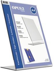Tafel folderstandaard OPUS 2 A4 staand glashelder