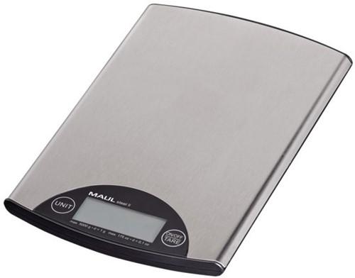 Briefweger MAUL Steel tot 5000 gram zilver staal incl.batterij