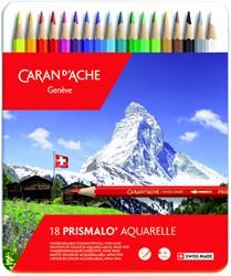 Kleurpotloden Caran d'Ache Prismalo 18stuks assorti
