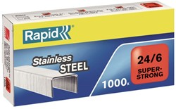 Nieten Rapid 24/6 RVS super strong 1000 stuks