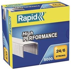 Nieten Rapid 24/6 gegalvaniseerd strong 5000 stuks