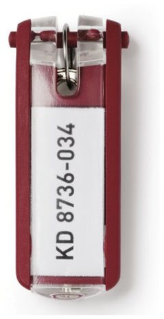 Sleutellabel Durable 1957 met ring rood