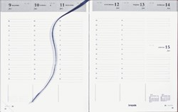 Agenda 2019 Brepols Timing 7dag/2pagina's Nederlands bordeau