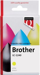 Inkcartridge Quantore Brother LC-1240 geel