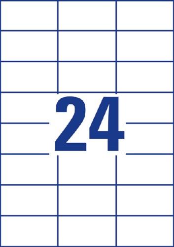 Etiket Avery Zweckform 3474 70x37mm wit 2400stuks-2