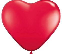 Ballonnen Folat hart rood 8stuks 30cm