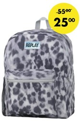 Rugzak Replay grey leopard allover
