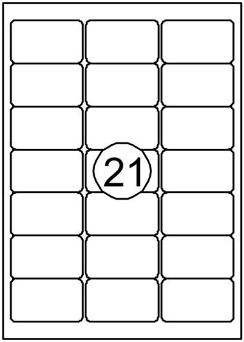 Etiket Quantore 63.5x38.1mm 2100stuks
