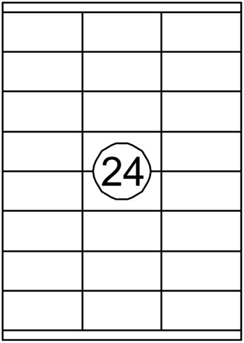 Etiket Quantore 70x35mm 2400stuks