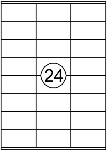 Etiket Quantore 70x36mm 2400stuks
