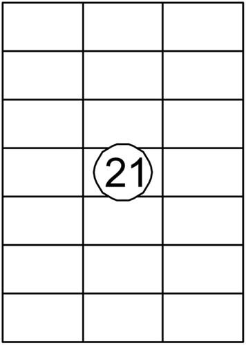 Etiket Quantore 70x42.3mm 2100stuks