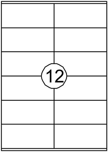 Etiket Quantore 105x48mm 1200stuks