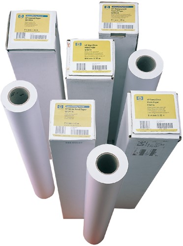 Inkjetpapier HP Q1441A 841mmx45.7m 90gr coated