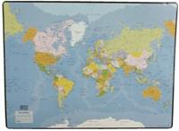 Onderlegger Esselte 40x53cm met wereldkaart Engels-2