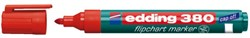 Viltstift edding 380 flipover rond rood 1.5-3mm