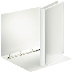 Presentatieringband Esselte Deluxe A4 4-rings D-mech 20mm wit