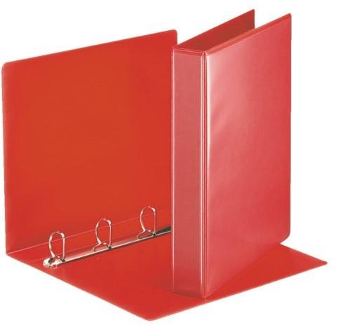 Presentatieringband Esselte Deluxe A4 4-rings D-mech 30mm rood
