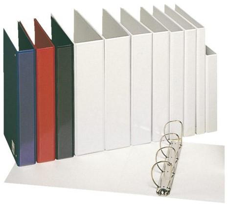 Presentatieringband Esselte Deluxe A4 4-rings D-mech 20mm rood-2