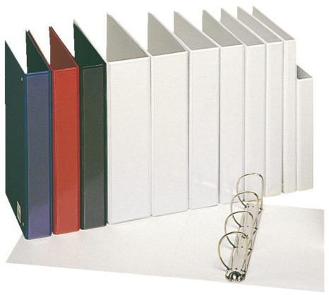 Presentatieringband Esselte Deluxe A4 4-rings D-mech 25mm wit-3