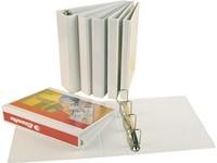 Presentatieringband Esselte Deluxe A4 4-rings D-mech 25mm wit-2