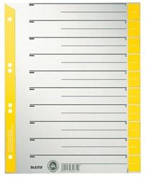 Scheidingsbladen Leitz A4 karton 230gr 4-gaats geel