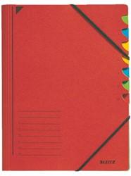 Sorteermap Leitz 3907 7-delig karton rood
