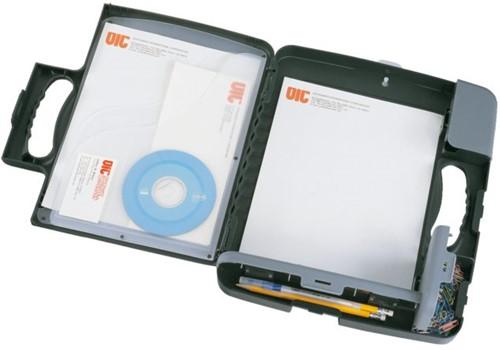 Klembordkoffer Oic 53320 met A4 opbergruimte antraciet