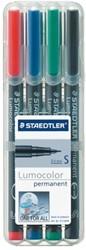Viltstift Staedtler Lumocolor 313 permanent S set à 4 stuks assorti