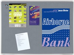 Textielbord Legamaster Premium 45x60cm grijs