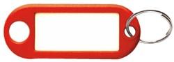 Sleutellabel kunststof rood