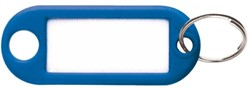 Sleutellabel kunststof donkerblauw